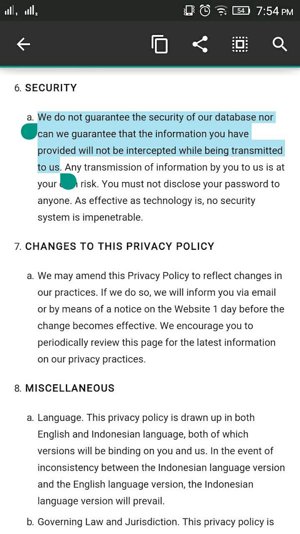 Gojek Privacy Policy