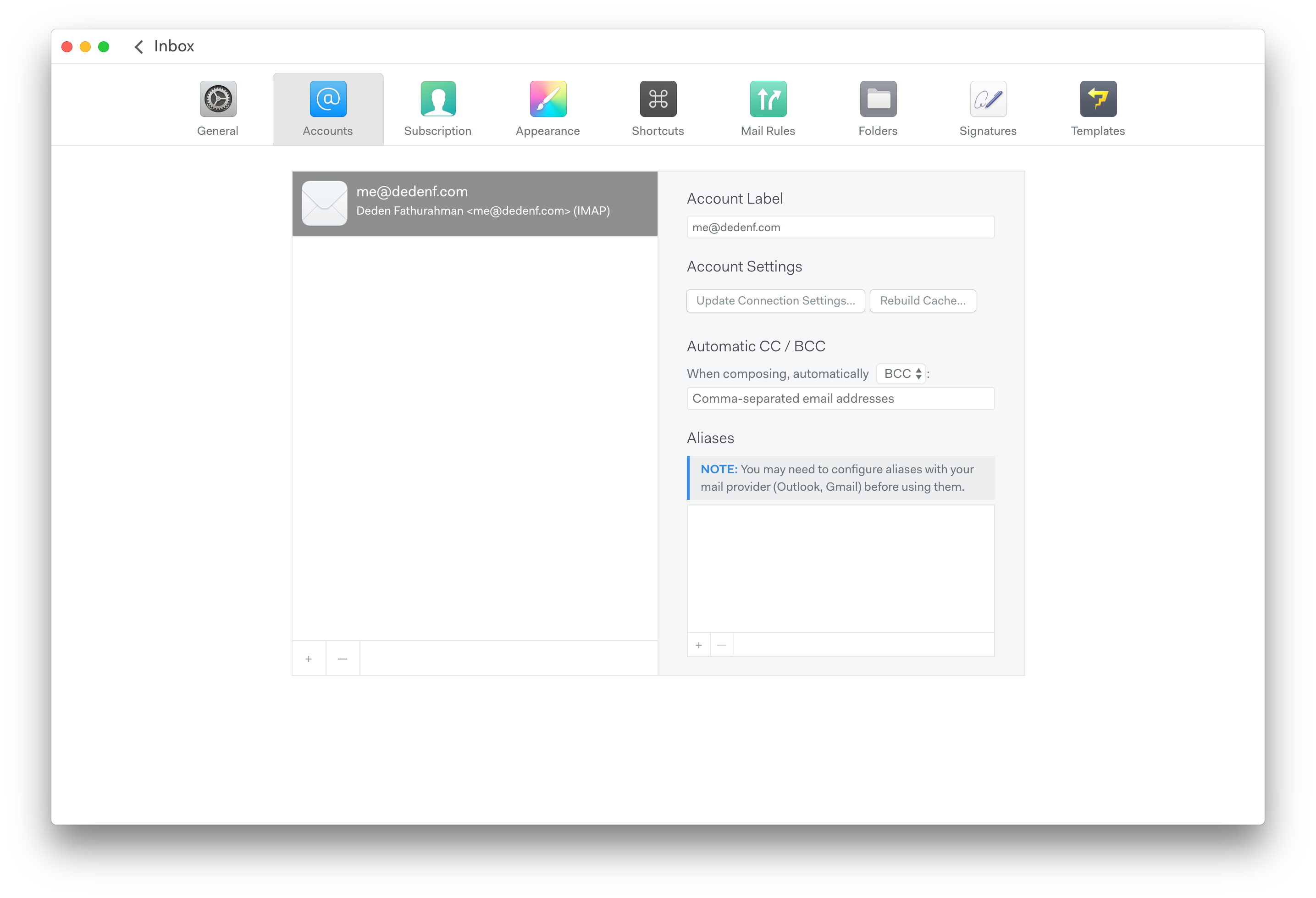Mailspring app review · HyperText Thrones